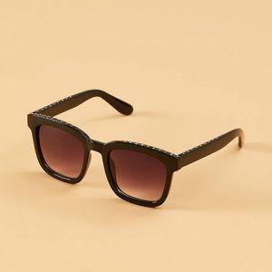 Lane Bryant pavé square black sunglasses